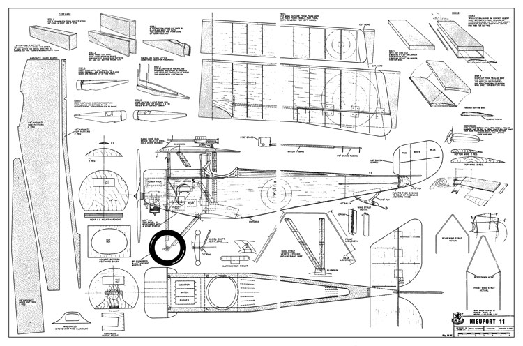 Nieuport II model airplane plan