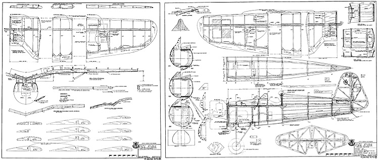 PZLP-11C RCM Plan 1070 70in span model airplane plan