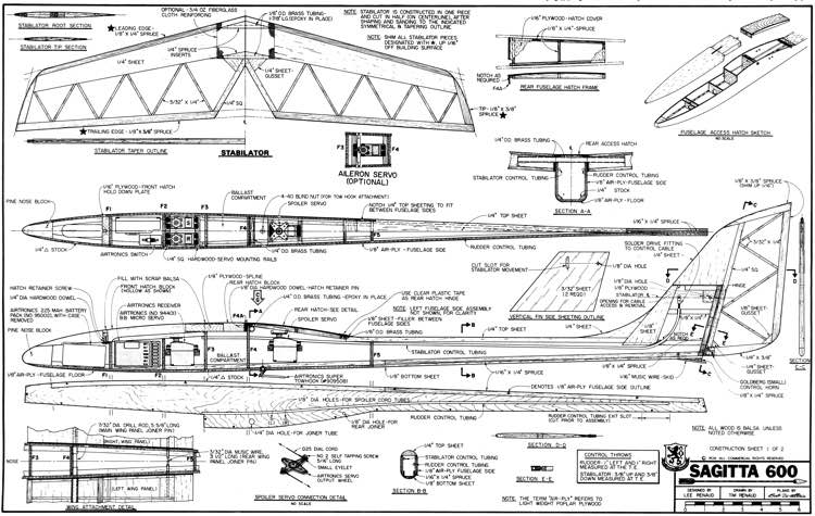 sagitta 600 plans - aerofred