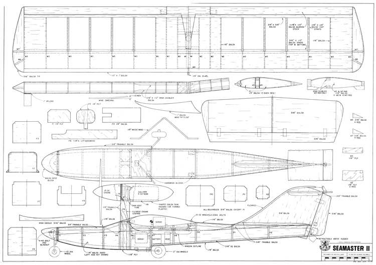 Seamaster II model airplane plan