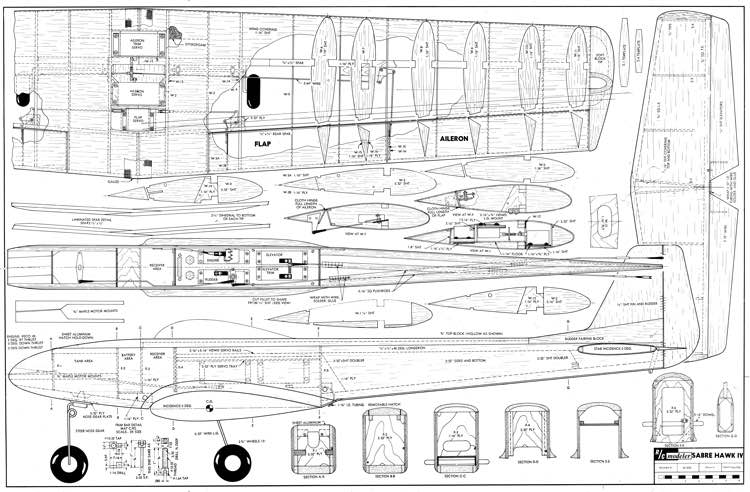 Sabre Hawk IV model airplane plan