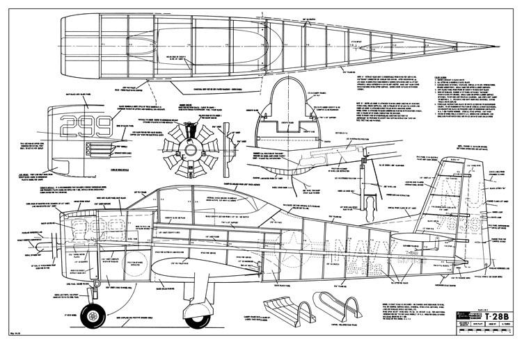 T 28b Trojan Rcm 194 Plans Aerofred Download Free