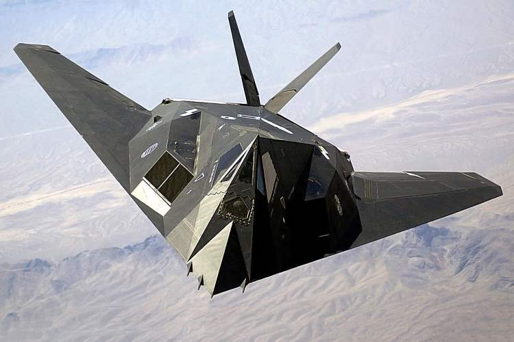 F117 STEALTH model airplane plan