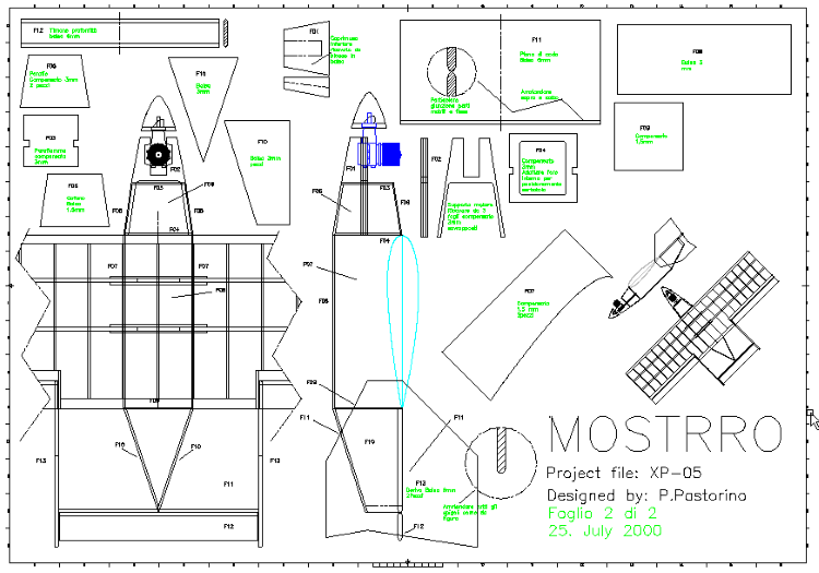 Mostro model airplane plan