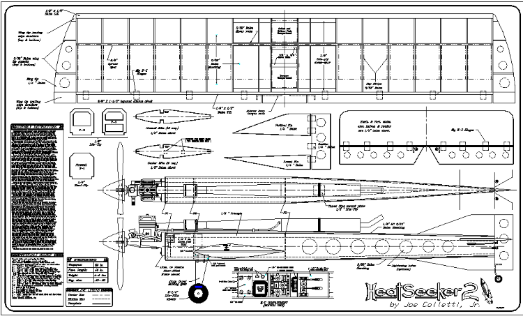 Heatseeker 2 model airplane plan