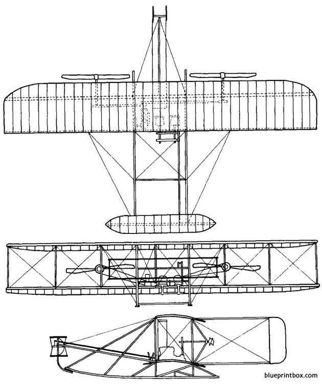 1907 wright model a model airplane plan