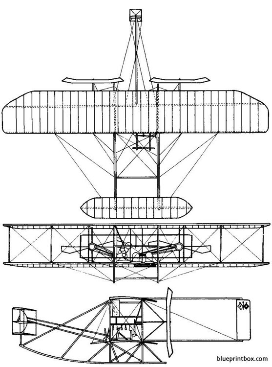 1909 wright military flyer model airplane plan