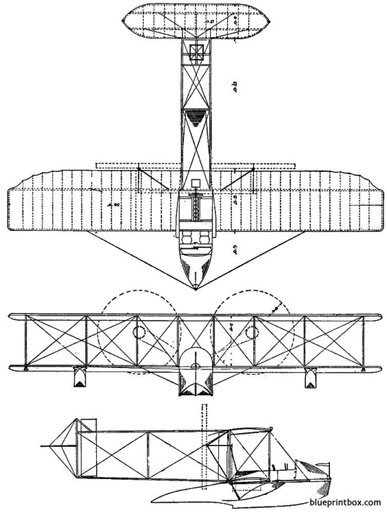 1913 wright model g model airplane plan
