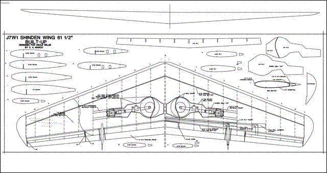 built up shinden wing plans - aerofred