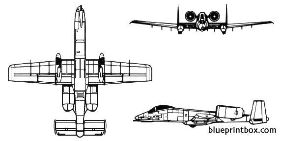 a 10 a thunderbolt ii model airplane plan