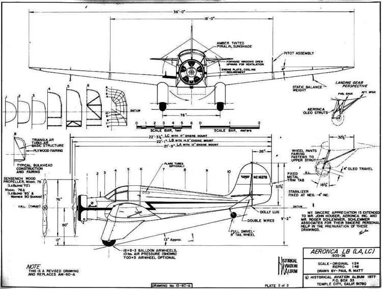 aeroncalb 1 3v model airplane plan