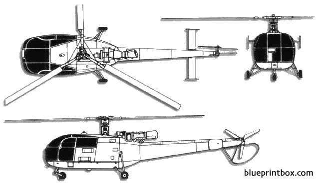 aerospatiale alouette iii model airplane plan