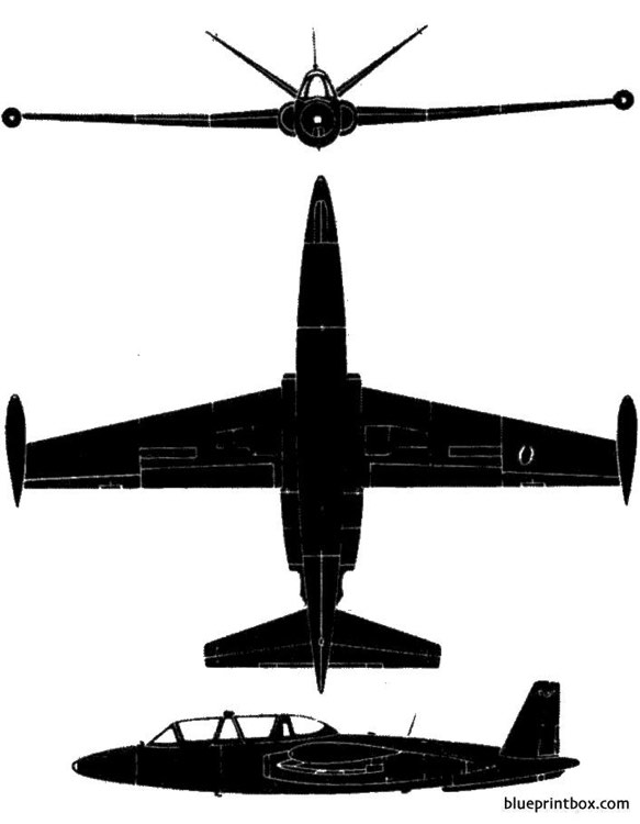 aerospatiale fouga cm 170 magister model airplane plan