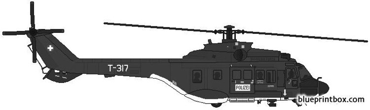 aerospatiale sa522 super puma model airplane plan