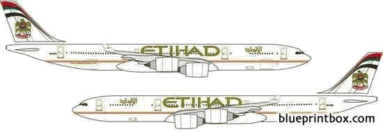 airbus a340 500 model airplane plan