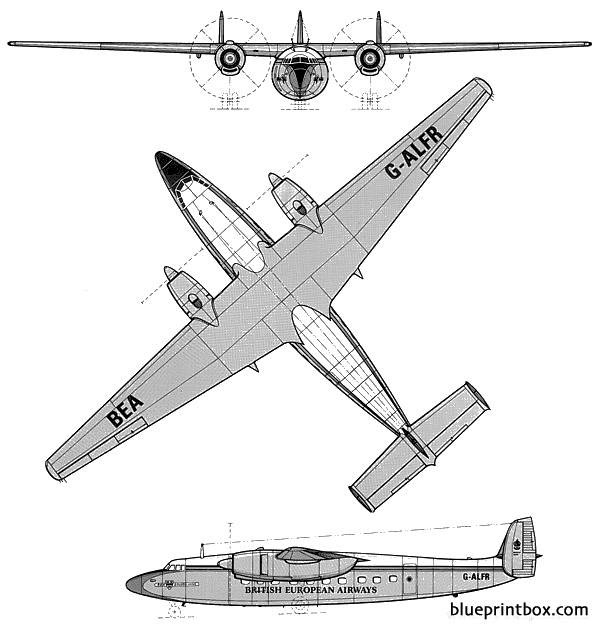 airspeed ambassador model airplane plan