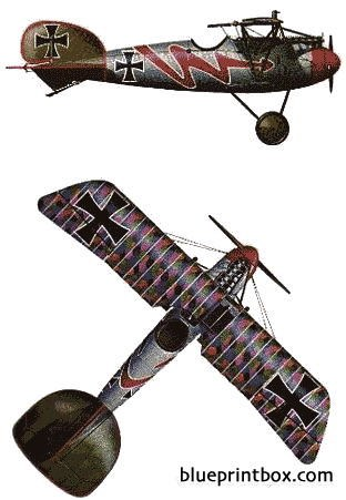 albatros dva blitz model airplane plan