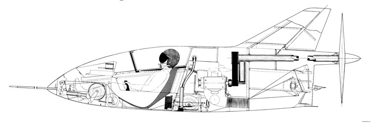 and finally a very nice cutaway view of the interior of a bd 5b model airplane plan