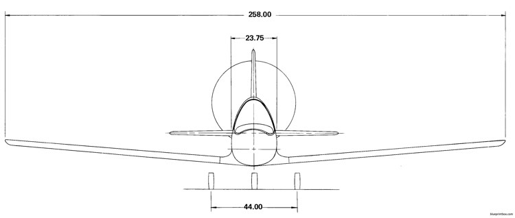 another view of the bd 5b 2 model airplane plan