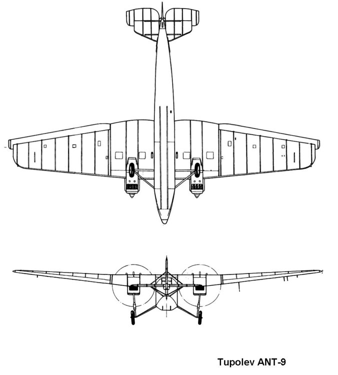ant9 2 3v model airplane plan