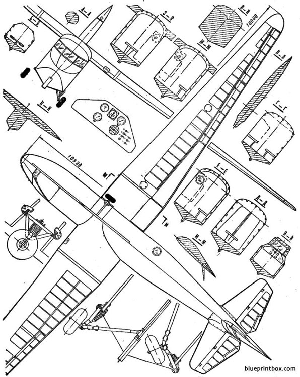 antonov a 7 model airplane plan