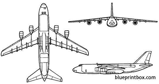 antonov an 124 condor model airplane plan