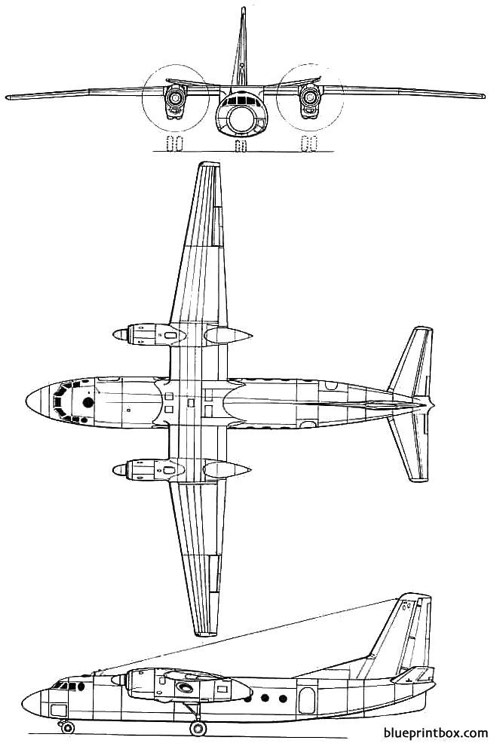 antonov an 24 model airplane plan