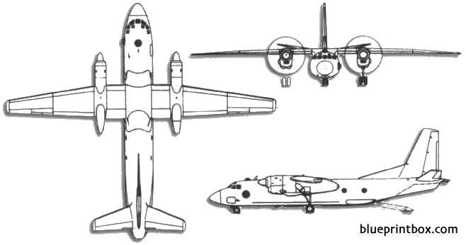 antonov an 26 curl model airplane plan