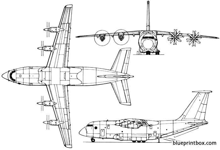antonov an 70 model airplane plan