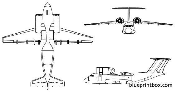 antonov an 72 coaler model airplane plan