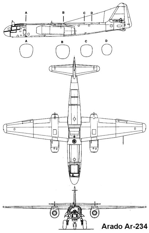 ar234 1 3v model airplane plan