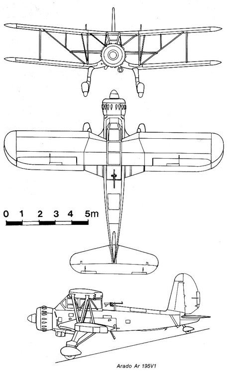 arado195 3v model airplane plan