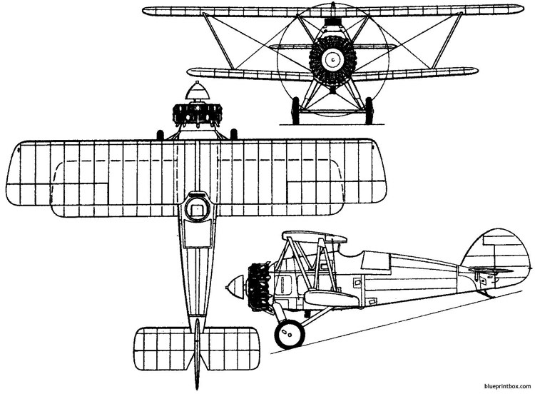 armstrong whitworth aw14 starling 1927 england model airplane plan