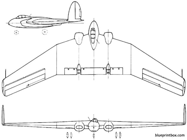 armstrong whitworth aw52 1947 england model airplane plan