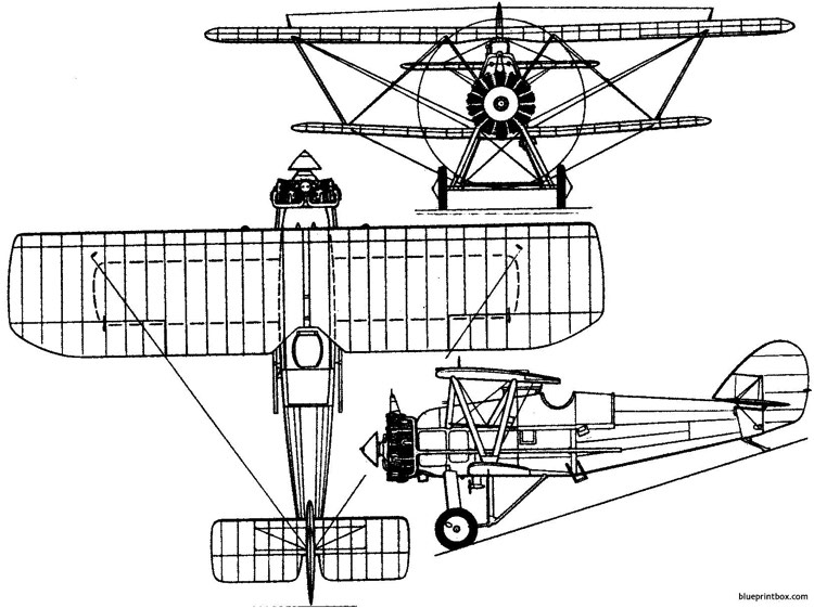 armstrong whitworth siskin iiia 1925 england model airplane plan