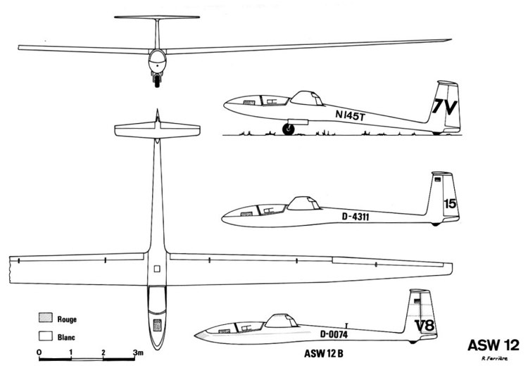 asw12 3v model airplane plan