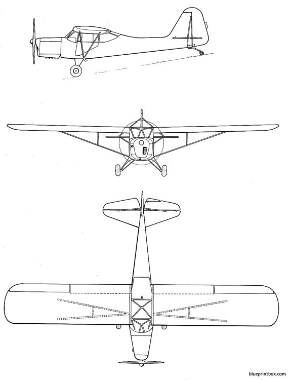 auster autocrat model airplane plan