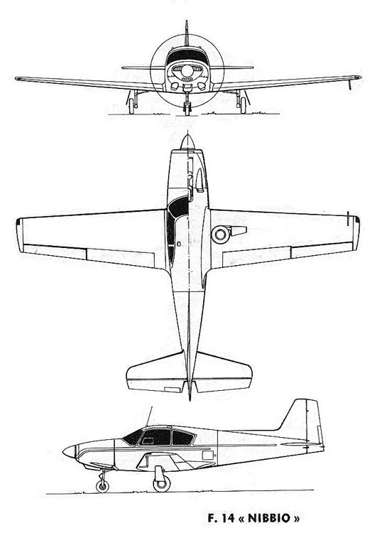 aviamilano nibbio 3v model airplane plan