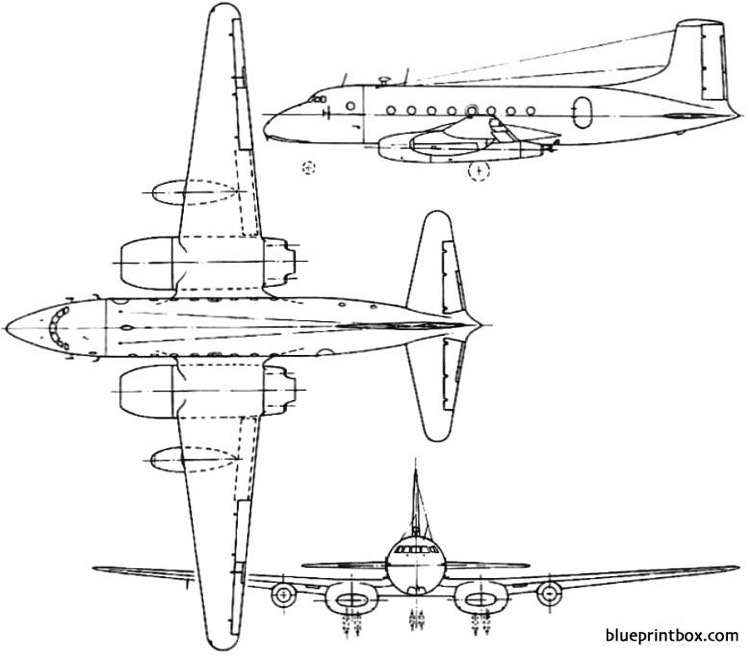 avro 706 ashton 1950 england model airplane plan