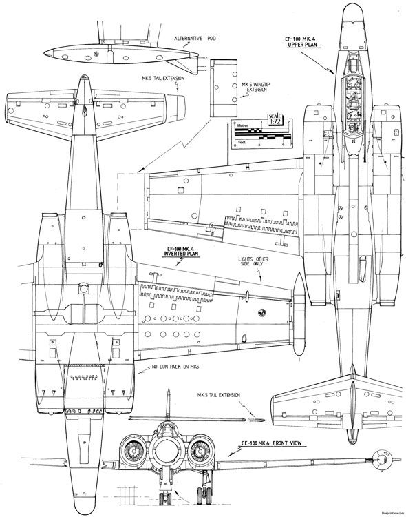avro canada cf 100 canuck 2 model airplane plan
