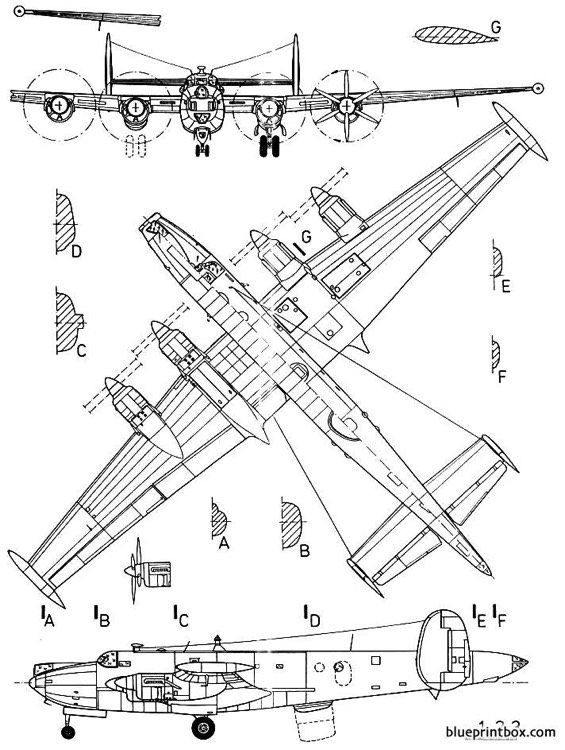 avro shackelton mk 3 model airplane plan