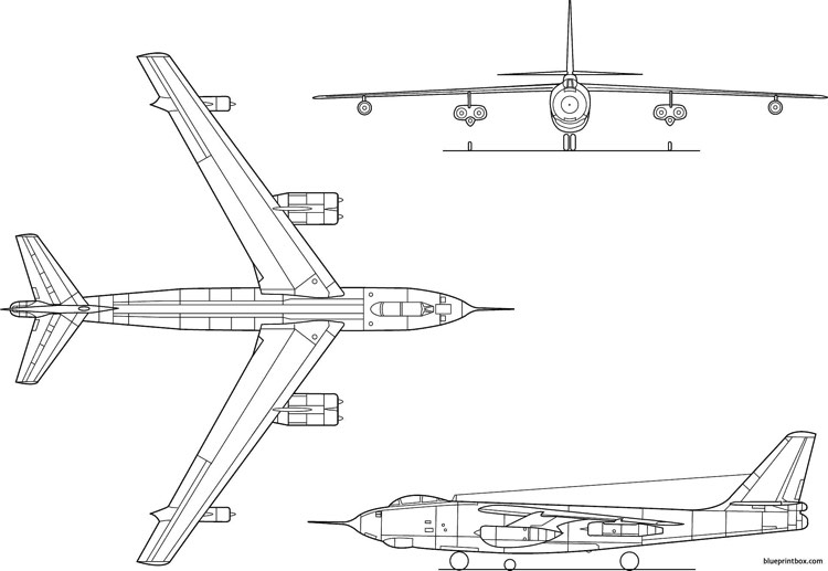 b 47a stratojet model airplane plan