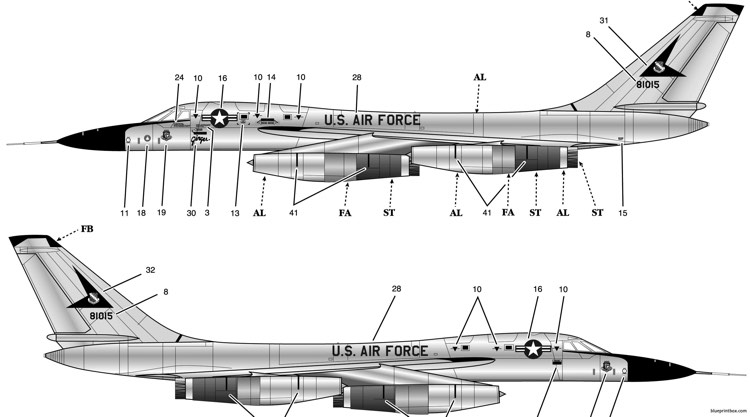 b 58 hustler 2 model airplane plan