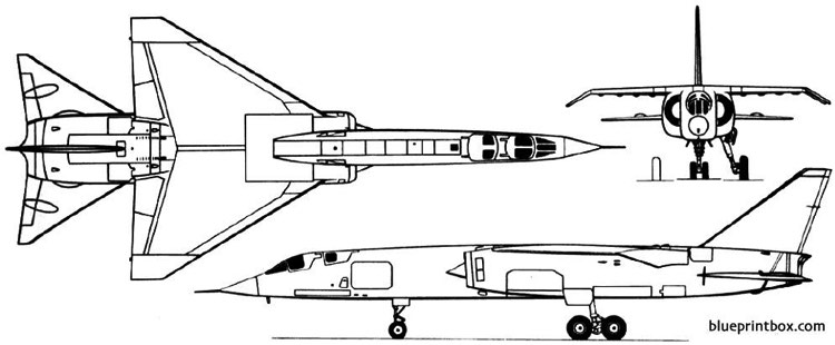 bac tsr2 1964 england model airplane plan