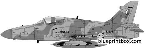 bae hawk 200 model airplane plan