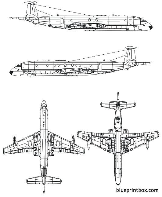 bae nimrod mr mk i model airplane plan