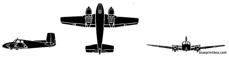 beech l 23 seminole model airplane plan