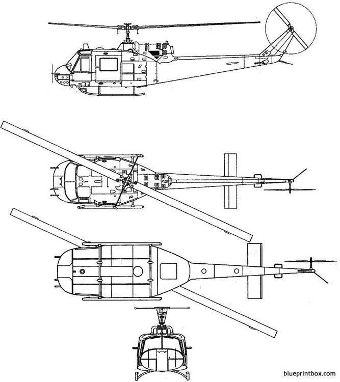 bell 204 uh 1b iroquois model airplane plan