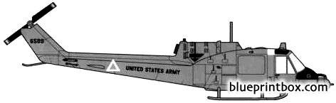 bell 204 uh 1c huey 1 model airplane plan