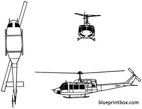 bell 205 uh 1 iroquois model airplane plan